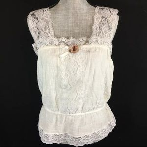 Vintage 80s 90s Lace Cami Tank Top Rock Candy